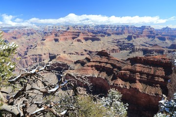Grand Canyon landscape with snow