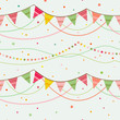 Party pennant bunting. - 76385659