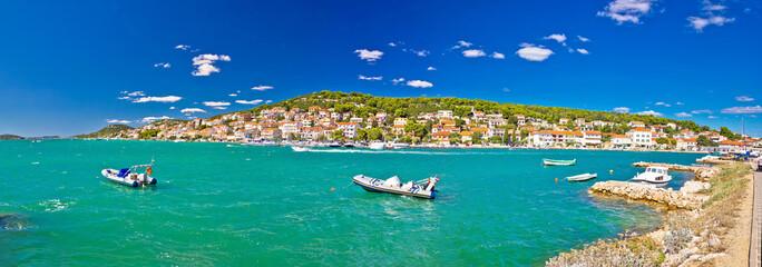 Coastal town of Tisno panorama