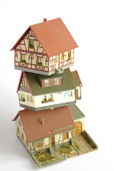 houses miniature model toy 2