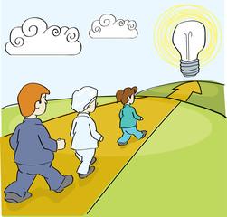 Walking to an idea