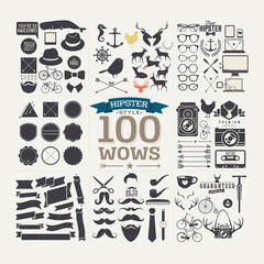 100 hipster icon! wow! all you need!