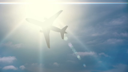 Plane Flies Through the Sun