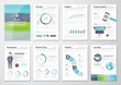 Flat design brochures and infographic business elements - 76387816