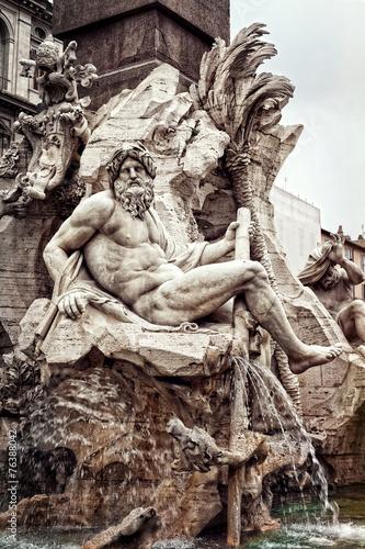 Foto op Plexiglas Fontaine fontana dei quattro fiumi