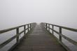 canvas print picture - Steg im Nebel