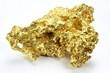 Goldnugget aus Queensland/ Australien isoliert auf weißem Hintergrund - 76388497