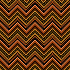 Zigzag Tribal Geometric Seamless Pattern