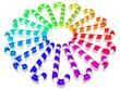 canvas print picture - ein Kreis aus bunten Zuckerstangen