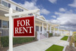 For Rent Real Estate Sign in Front of House - 76388855