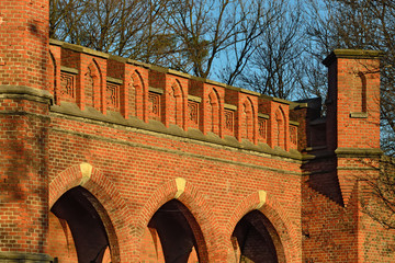 Rossgarten Gate - fort of Koenigsberg. Kaliningrad (former Konig