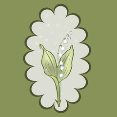 Lily of the Valley vector card