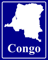 silhouette map of Congo