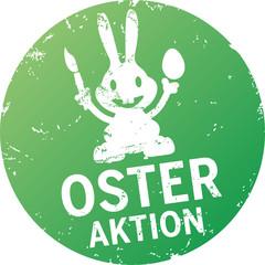Button Stempel Osteraktion mit Osterhase