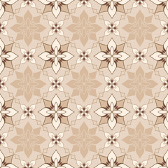 Decorative beige seamless texture