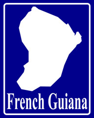 silhouette map of French Guiana
