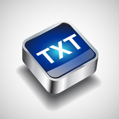 File format or file extension TXT icon for interface
