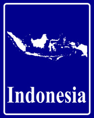 silhouette map of Indonesia
