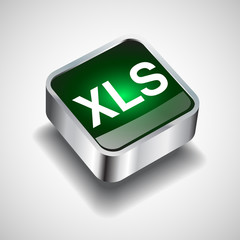 Xls file icon vector