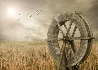 Mill on the wheat farm