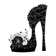 Logo shoe store, shop, fashion collection