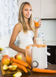 Young woman with fresh juice