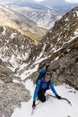 Climber at winter