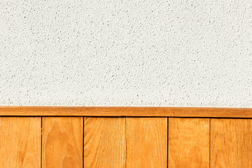 Wood plank brown with white concrete texture background.