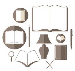 Book. Icon set
