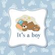 Baby boy  invitation for baby shower
