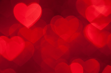 red heart shape holiday background