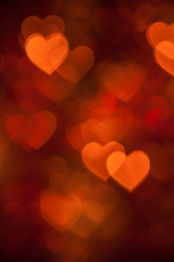 brown heart shape holiday background