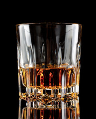 Glass of old aged cognac