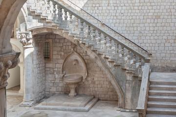 Atrium of the Rector's palace in Dubrovnik, Croatia.