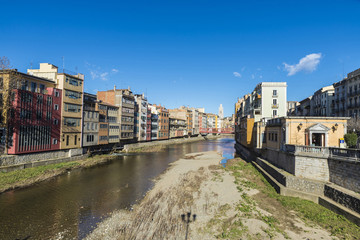 View of the city of Girona, Spain