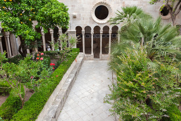 Famous inner courtyard in the Monastery of the Friars minor in D