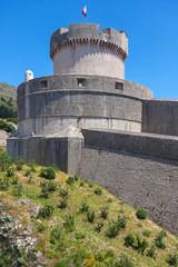 Minceta tower on old walls of Dubrovnik, Croatia.