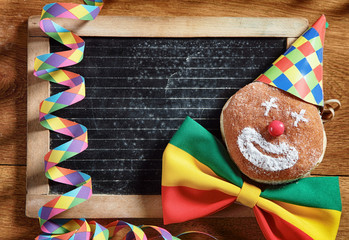 Carnival Donuts with Black Board at the Back
