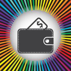wallet vector icon