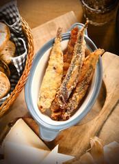 Appetizing Batter Fried Fish on Bowl