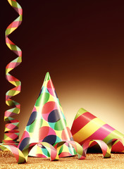 Cone Hats and Paper Streamer for Party
