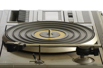 turntable with cassette player old