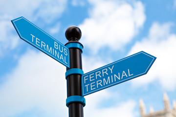 Travel Terminal Sign