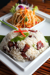 Thai Pork Ribs and Rice Dish