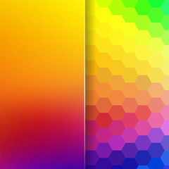 abstract background consisting of hexagons and matt glass