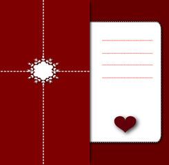 notebook valentine love card