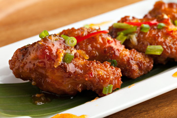 Tangy Thai Spicy Chicken Wings