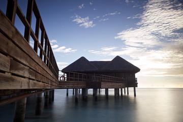 Maldives bungalows.