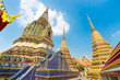Pagodas of Wat Pho temple in Bangkok, Thailand