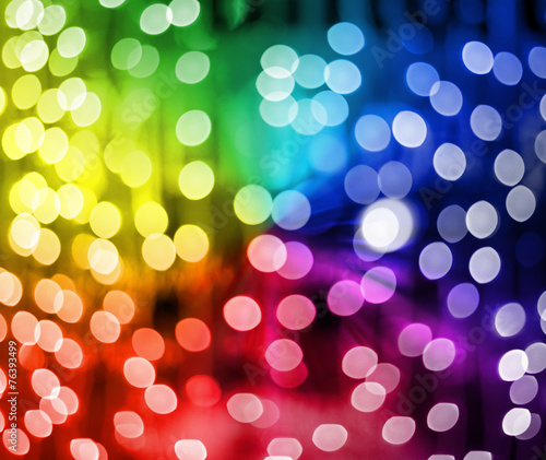 Fotobehang Licht, schaduw Multicolored twinkling lights